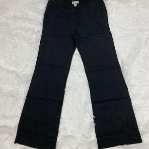 Ann Taylor Loft Marisa Size 4 Linen Pants Black